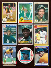 Rickey Henderson Card *Lot Of 40* 1980s and Early 90s cards! A's HOF SB Ticket*