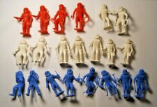 """21 1960s MPC Model Products Co Red White Blue 2"""" Astronaut Spacemen Plastic Toys"""
