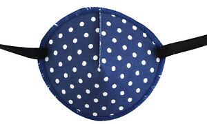 Spotty Blue - Medical Adult Eye Patch Soft Washable sold to NHS
