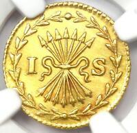 1751 Netherlands Utrecht Gold Stuiver Coin 1S - NGC Uncirculated Detail (MS UNC)
