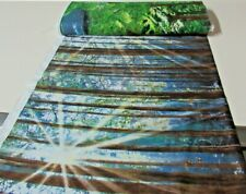 Timeless Treasures quilt fabric SUNNY FOREST TREES mul 2 yds (c-8589)Border WOW