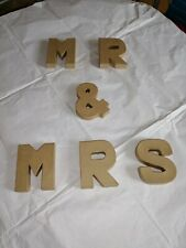 Shabby Chic Mr & Mrs Wooden Letters Sign Vintage Rustic Wedding Table Decoration