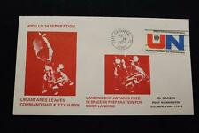 SPACE COVER 1971 MACHINE CANCEL APOLLO 14 ANTARES LEAVES FOR MOON SARZIN (2736)