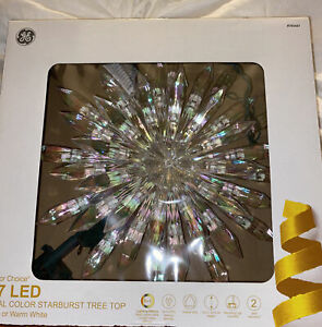 NEW GE Color Choice Christmas Tree Starburst Top, 37 LED Multi Warm White Lights