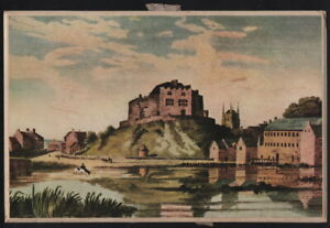 TAMWORTH, Castle 1798. Marmion Motors (?) calendar, Hamel (?) print, 1950s / 60s