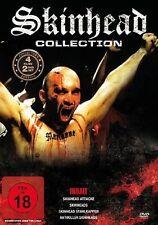 4 Filme Skinhead Stahlkappen & Skinhead Attacke & Antikiller Skinheads & Skinhea