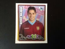 Merlin Football Sticker #40 2001-02 Bosko Balaban Aston Villa Mint Condition