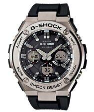 Casio G-Shock G-STEEL *GSTS110-1A Solar Silver Steel Black Resin Ivanandsophia