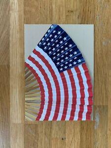 USA US 2003 POSTAL CARD MINT FLAGS OLD GLORY STARS & STRIPES AS A FAN