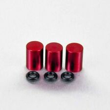 Pro-Bolt Aluminium Bleed Nipple Cover 7mm Pack x 3 - Red Cagiva Mito 125 98+