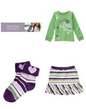 Gymboree Dance Team Peace Love Dance Tee Stripe Skort & Heart Socks 4 Outfit NWT