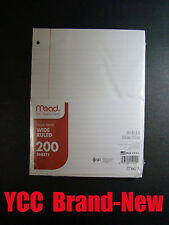 Mead Notebook Filler Paper  -200 sheets - wide ruled - 10.5 x 8in #15200