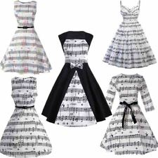 Hell Bunny Music Note 50s Retro Vintage Swing Rockabilly Pin up Dress S-2XL New