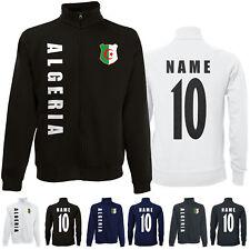 Algerien ALGERIA WM 2022 Sweat Jacke Trikot Name Nummer