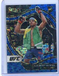 2021 PANINI SELECT UFC BLUE PRIZM ROOKIE RC GILBERT BURNS OCTOGONSIDE #283
