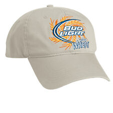 (2) Bud Light Golden Wheat Khaki Twill Hat 100% Cotton Free Shipping in the USA