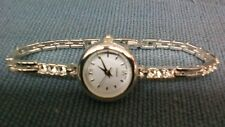 WOMEN'S WHITE STAINLESS STEEL WATCH with Inset Stones in Wristband
