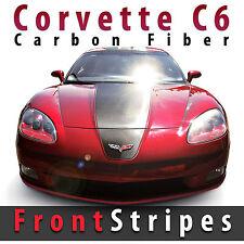 Chevrolet Corvette C6 CF Carbon Fiber Front Stripes Decal Kit Precut 2005 - 2013