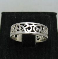 STERLING SILVER RING SOLID 925 FILIGREE BAND NEW SIZE G - Z EMPRESS