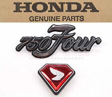 New OEM Right Side Cover Emblems 70-72 CB750K K1-K2 Honda Badges Red Jewel #E95