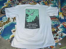 RESO PHONICE GUITAR SHIRT  NATIONAL RESO GUITAR SHIRT VINTAGE LARGE