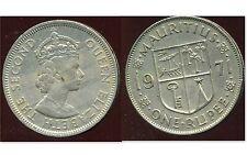 ILE MAURICE  one 1  rupee  1971