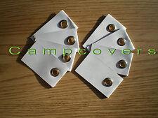 Strong-Hold White Grommet Tabs~HEAVY DUTY~8 pk.~SHIPS WORLDWIDE~for Tyvek sheets
