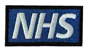 Fully Embroidered Small NHS Sew on or Iron on Patch Badge (A)