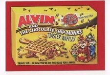 2017 Wacky Packages 50th Anniversary red parallel Alvin Chip-Munks 02/10
