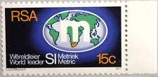 RSA SÜDAFRIKA SOUTH AFRICA 1977 534 Umstellung metrisches System Weltkarte MNH