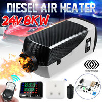 Warmtoo 24V 8KW Diesel Air Heater LCD Thermostat For Truck Boat Car Bus Trailer