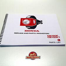 Honda CB750F CB750F1 SOHC Four 1970s Parts List Book Manual. HPL015