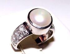 Estate MJS 0.50CT Diamond & Pearl Ring 18K Size-4 18K (Pinky Ring!?)
