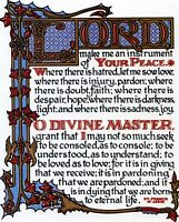 """Catholic print picture - PRAYER OF ST. FRANCIS 2 -  8"""" x 10"""" ready to be framed"""