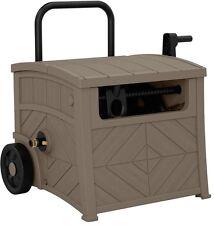 Outdoor Garden Water Leader Hose Reel Storage Box Organizer Holder Hideaway Cart
