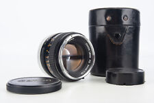 Canon FD 50mm f/1.4 Silver Nose Fast Prime Lens with Original Caps & Case V04