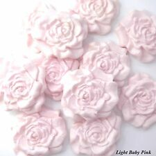 50 Pink Sugar Roses edible wedding cake decorations flowers 9 OPTIONS 30mm