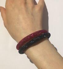 Genuine Swarovski Stardust Bracelet fuchsia Pink Small NEW