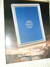 """PEDRO DURAN PLATA FIRMANA SIGNED 6 3/4"""" x 4 3/4"""" Sterling Silver Picture Frame"""