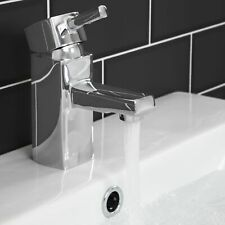 Bathroom Square Monobloc Basin Sink Mixer Tap Brass Single Lever Chrome Modern