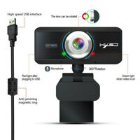 USB 20 Megapixel HD Webcam Web Cam Camera & 2020 Microphone Mic For Laptop PC/