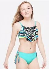 New ListingNew Justice Swimsuit Sz 20 Bikini Zebra Girls Swim Wear 2 Piece Bathing Suit Nwt