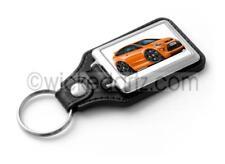 RetroArtz Cartoon Car Ford Focus MK2 ST3 Orange (BK Alloys) Classic Key Ring