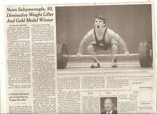 Naim Suleymanoglu 50 New York Times Turkish Weight Lifter Pocket Hercules