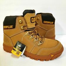 Caterpillar Mens Second Shift Work Boot Size 7.5 F2892-18 Beige NEW