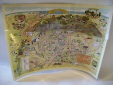 "Piketberg South Africa Map Laminated Bergrivier Tourism 12"" x 16"" Promotional"