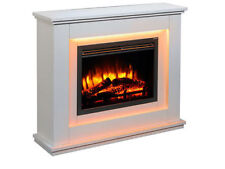 Endeavour Castleton E114R/115S Light Cream Electric Fireplace with Remote Control