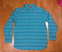 The North Face Mens Blue Striped Woven Casual Long Sleeve Button Down Shirt Size