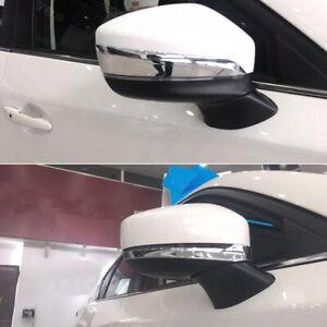 For Mazda CX-5 KF 2017-2020 Chrome Side Door Rearview Mirror Stripe Cover Trim