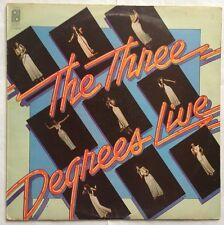 The Three Degrees - Live  - Philadelphia Records Vinyl LP S PIR 69197 VG+/G+